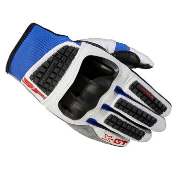 Resim Spidi X-GT Yazlık Deri Motosiklet Eldiveni Beyaz Mavi