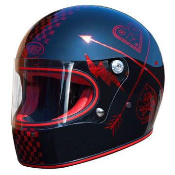 Resim Premier Trophy NX Red Chromed Kapalı Motosiklet Kaskı Kırmızı Siyah