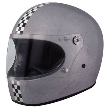 Resim Premier Trophy CK Old Style Kapalı Motosiklet Kaskı Gri