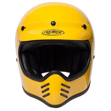 Resim Premier MX U12 Kapalı Motosiklet Kaskı Sarı
