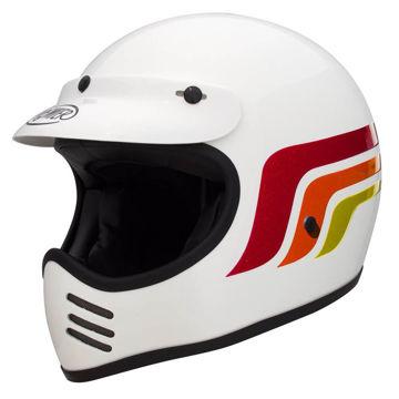 Resim Premier MX LC8 Kapalı Motosiklet Kaskı Beyaz