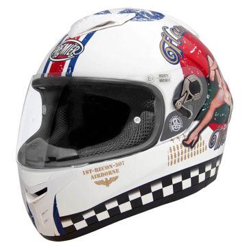 Resim Premier Dragon Evo Pin Up 8 Kapalı Motosiklet Kaskı Beyaz