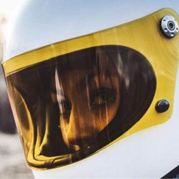 Resim Premier Trophy  Kapalı Motosiklet Kaskı Camı Turuncu