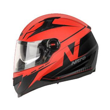 Resim Nitro N2200 Güneş Camlı Kapalı Motosiklet Kaskı 76 Kırmızı Siyah