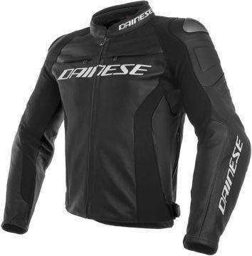 Resim Dainese Racing 3 Deri Motosiklet Ceketi Siyah