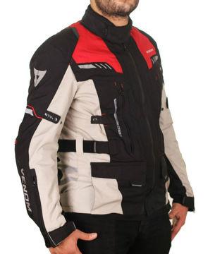 Resim Venom Adventure Motosiklet Montu Kırmızı Gri