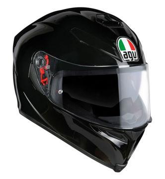 Resim AGV K5 S PLK Kapalı Motosiklet Kaskı Parlak Siyah