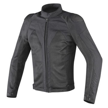 Resim Dainese Hyper Flux D-Dry Yazlık Motosiklet Ceketi Siyah
