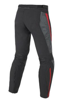 Resim Dainese Mig Tekstil Deri Motosiklet Pantolonu Siyah Kırmızı