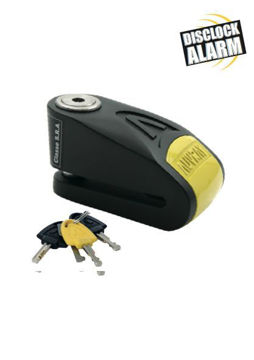 Resim Auvray 14 mm Alarmlı Disk Kilidi Sarı Siyah