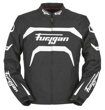 Resim Furygan Arrow Mevsimlik Motosiklet Montu Siyah Beyaz