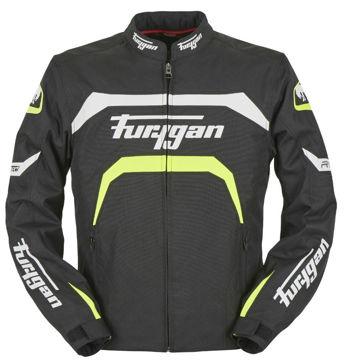 Resim Furygan Arrow Mevsimlik Motosiklet Montu Siyah Neon Sarı