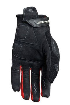 Resim Five Gloves Enduro Quad Yazlık Motosiklet Eldiveni Siyah Kırmızı