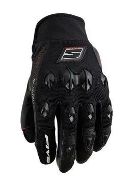 Resim Five Gloves Stunt Kadın Yazlık Motosiklet Eldiveni Siyah