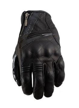 Resim Five Gloves Sport City Kadın Deri Motosiklet Eldiveni Siyah