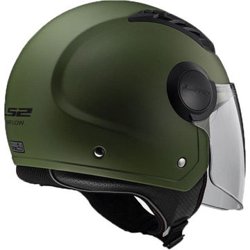 Resim LS2 OF562 Airflow Yarım Motosiklet Kaskı Mat Yeşil