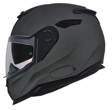 Resim NEXX SX100 Kapalı Motosiklet Kaskı Mat Gri