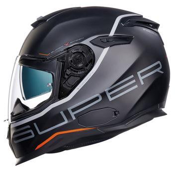 Resim NEXX SX100 Superspeed Kapalı Motosiklet Kaskı Mat Siyah