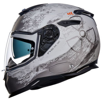 Resim NEXX SX100 Toxic Kapalı Motosiklet Kaskı Mat Gri