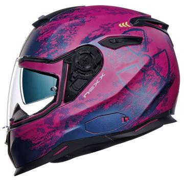 Resim NEXX SX100 Toxic Kapalı Motosiklet Kaskı Mat Mor