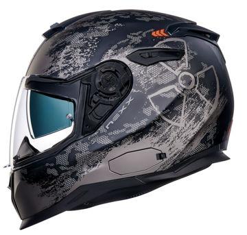 Resim NEXX SX100 Toxic Kapalı Motosiklet Kaskı Mat Siyah Kırmızı