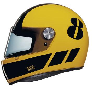 Resim NEXX X.G100 Racer Billy B Kapalı Motosiklet Kaskı Sarı-Siyah