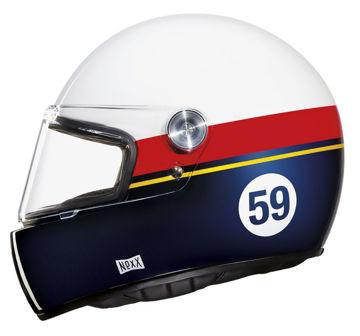 Resim NEXX X.G100 Racer Grand Win Kapalı Motosiklet Kaskı Beyaz-Kırmızı-Mavi