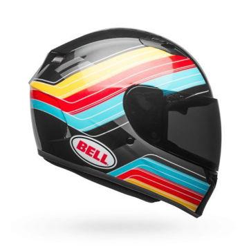 Resim BELL Qualifier Command Kapalı Motosiklet Kaskı Mavi Kırmızı Sarı