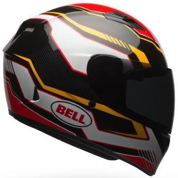 Resim Bell PS Qualifier Torque Motosiklet Kaskı Sarı Siyah Kırmızı