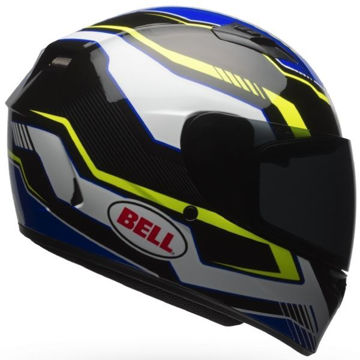 Resim Bell PS Qualifier Torque Motosiklet Kaskı Mavi Sarı Siyah
