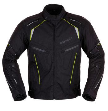 Resim Modeka Kiano Motosiklet Ceket Siyah Sarı