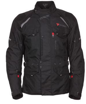 Resim Modeka Motosiklet Striker Ceket Siyah