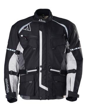 Resim Modeka Tourex Motosiklet Ceket Siyah/Grı