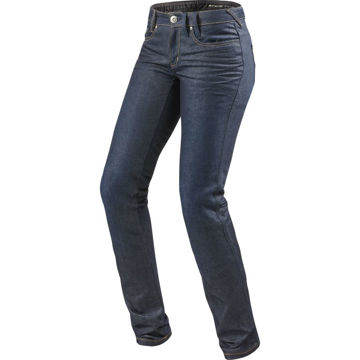 Resim Revit Madison 2 Motosiklet Bayan Kot Pantolonu Mavi
