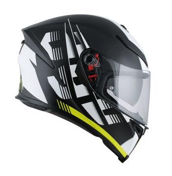 Resim Agv K5 S Multi Plk Darkstorm Kapalı Motosiklet Kaskı Mat Siyah Sarı