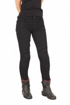 Resim Tech90 Arya Kevlar Kot Kadın Motosiklet Pantolonu Siyah