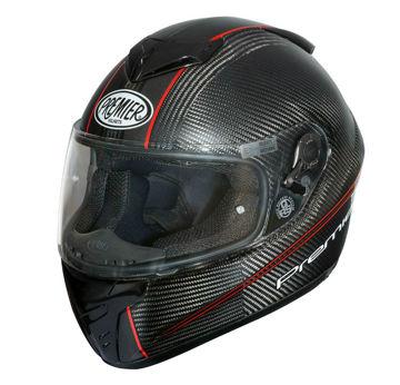 Resim Premier Dragon Evo Kapalı Motosiklet Kaskı Karbon Kırmızı