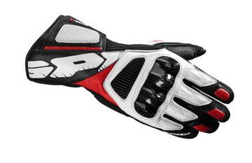 Resim Spidi STR-4 Vent Deri Motosiklet Eldiveni Beyaz Kırmızı