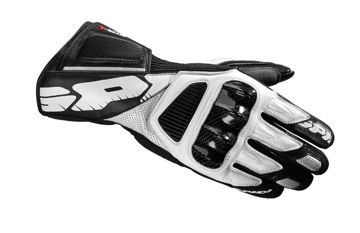 Resim Spidi STR-4 Vent Deri Motosiklet Eldiveni Beyaz Siyah