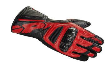 Resim Spidi STR-4 Vent Deri Motosiklet Eldiveni Kırmızı Siyah
