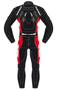 Resim Spidi Track Touring Çift Parça Deri Motosiklet Tulum Siyah