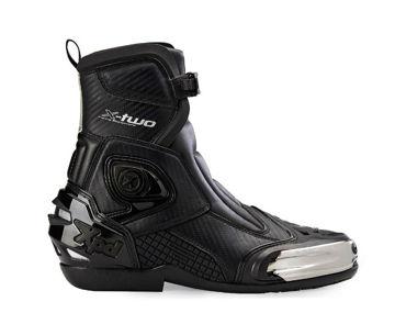 Resim Xpd X-TWO Karbon Motosiklet Botu Siyah