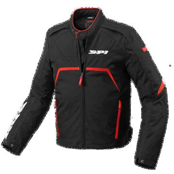 Resim Spidi Evo Rider Tex Motosiklet Ceketi Siyah Kırmızı