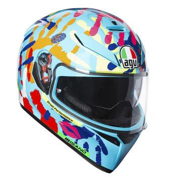 Resim AGV K3 SV Top Plk Misano 2014 Kapalı Motosiklet Kaskı