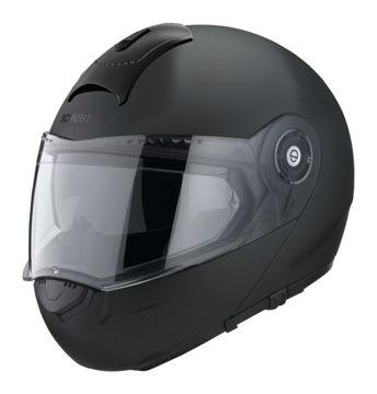 Resim Schuberth C3 Basic Çeneden Açılır Motosiklet Kaskı Mat Siyah