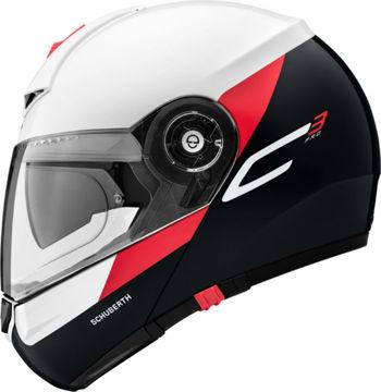 Resim Schuberth C3 Gravity Çeneden Açılır Motosiklet Kaskı Kırmızı