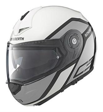 Resim Schuberth C3 Pro Observer Çeneden Açılır Motosiklet Kaskı Beyaz