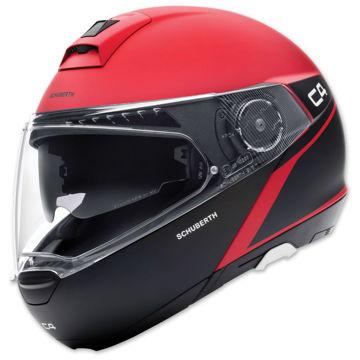 Resim Schuberth C4 Spark Çeneden Açılır Motosiklet Kaskı Kırmızı