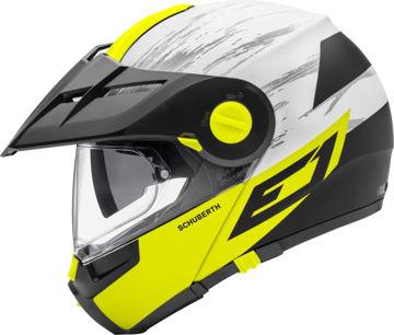 Resim Schuberth E1 Crossfire Çeneden Açılır Motosiklet Kaskı Sarı