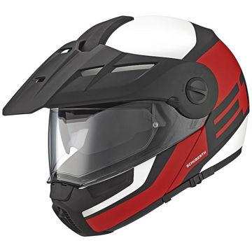 Resim Schuberth E1 Guardian Çeneden Açılır Motosiklet Kaskı Kırmızı